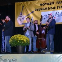 Chris Sexton joins Mike Mitchell Band at the 2018 Nothin' Fancy Bluegrass Festival - photo © Bill Warren
