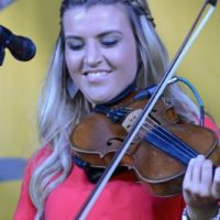 Summer Brooke McMahan at the 2018 Nothin' Fancy Bluegrass Festival - photo © Bill Warren