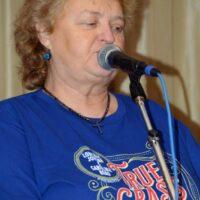 Lorraine Jordan at the True Grass Benefit (9/24/18) - photo © Bill Warren