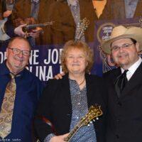 Danny Paisley, Lorraine Jordan, and Junior Sisk at the True Grass Benefit (9/24/18) - photo © Bill Warren