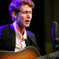 Daniel Thrailkill with The Trailblazers at the 2018 World of Bluegrass (9/26/18) - photo © Frank Baker