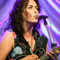 Leanne Thorose with Midnight Skyracer at the 2018 World of Bluegrass (9/26/18) - photo © Frank Baker