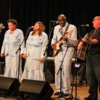 Danny Paisley with The Glorifying Vines Sisters at the 2018 Shout & Shine concert (9/24/18) - photo © Frank Baker