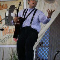 Dom Flemons at the 2018 Delaware Valley Bluegrass Festival - photo by Frank Baker