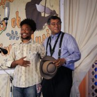 Brian Farrow and Dom Flemons at the 2018 Delaware Valley Bluegrass Festival - photo by Frank Baker