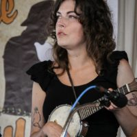 Grace Van't Hof with Bill & The Belles at the 2018 Delaware Valley Bluegrass Festival - photo by Frank Baker