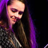 Tabitha Agnew with Midnight Skyracer at the 2018 World of Bluegrass (9/26/18) - photo © Frank Baker