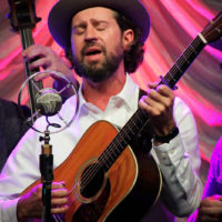 Matt Royles with Man About A Horse at the 2018 World of Bluegrass (9/26/18) - photo © Frank Baker