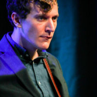 Alex Edwards with The Trailblazers at the 2018 World of Bluegrass (9/26/18) - photo © Frank Baker