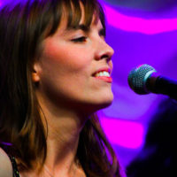 Charlotte Carravick with Midnight Skyracer at the 2018 World of Bluegrass (9/26/18) - photo © Frank Baker