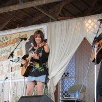 Suzy Boggus at the 2018 Delaware Valley Bluegrass Festival - photo by Frank Baker