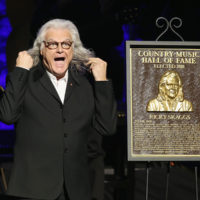 Ricky Skaggs discovers he has long hair as he is inducted into the Country Music Hall of Fame (10/21/18) - photo byTerry Wyatt/Getty Images