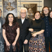 Ricky Skaggs with his family at the Country Music Hall of Fame (10/21/18) - photo byTerry Wyatt/Getty Images