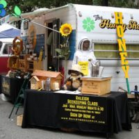 Beekeepers at StreetFest during Wide Open Bluegrass 2018 - photo © Frank Baker