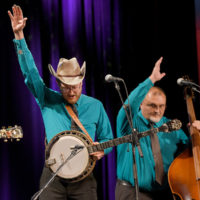 Alex Leach and Randall Hibbitts with The Clinch Mountain Boys at the Stanley Brothers Tribute (Country Music Hall of Fame & Museum 10/24/18) - photo byJason Kempin/Getty Images