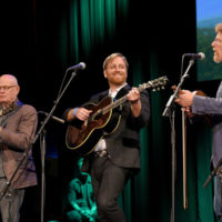 Jimmy Quine, Dan Auerbach, and Tim O'Brien at the Stanley Brothers Tribute (Country Music Hall of Fame & Museum 10/24/18) - photo byJason Kempin/Getty Images