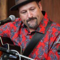 Stephen Mougin at the guitar workshop at Wide Open Bluegrass 2018 - photo © Frank Baker