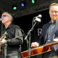 Shawn Lane and Justin Moses with Blue Highway at the 2018 Bristol Rhythm & Roots Reunion - photo by Teresa Gereaux