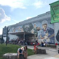 Big Band mural at the 2018 Bristol Rhythm & Roots Reunion - photo by Teresa Gereaux