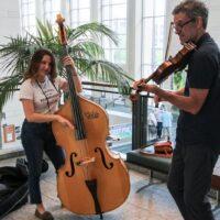 Lobby jam at the 2018 World of Bluegrass - photo © Frank Baker