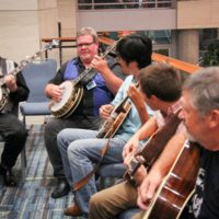 Banjo jam at Wide Open Bluegrass 2018 - photo © Frank Baker