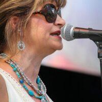 MC Cindy Baucom during StreetFest at Wide Open Bluegrass 2018 - photo © Frank Baker