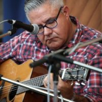 Kenny Smith at the guitar workshop at Wide Open Bluegrass 2018 - photo © Frank Baker