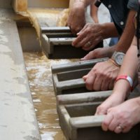 Panning for gold during StreetFest at Wide Open Bluegrass 2018 - photo © Frank Baker