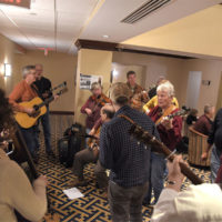 Hallway jam at JamVember 2018 - photo by Eric Levenson