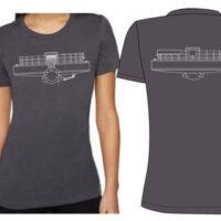 Straight Up Strings banjo t-shirt for women