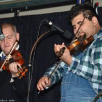 Twin fiddles for Larry Efaw & The Bluegrass Mountaineers at 2018 Bluegrass Christmas in the Smokies - photo © Bill Warren