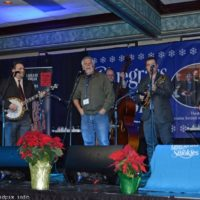 Randy Graham joins the Dean Osborne Band for a song at 2018 Bluegrass Christmas in the Smokies - photo © Bill Warren