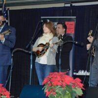Triple mandolins honor Bobby Osborne during the Dean Osborne Band set at 2018 Bluegrass Christmas in the Smokies - photo © Bill Warren