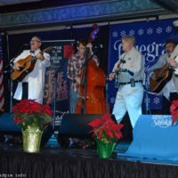Mayberry crew storms the stage at the  2018 Bluegrass Christmas in the Smokies - photo © Bill Warren