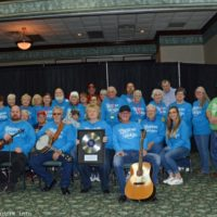 Carolina Road and the volunteer crew at the 2018 Bluegrass Christmas in the Smokies - photo © Bill Warren