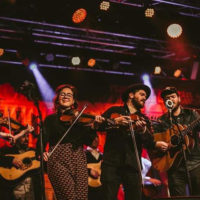 All hands on deck for the Bluegrass Jamboree show in Munich - photo by Magdalena Mitter