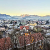 Mountain scene taken on a hike above Hohenems in Austria - photo by Jeff Scroggins