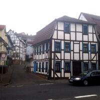 Picturesque buildings in Schlitz, Germany