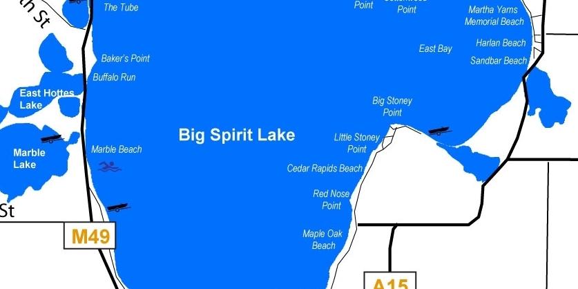 Big Spirit Lake, area Community