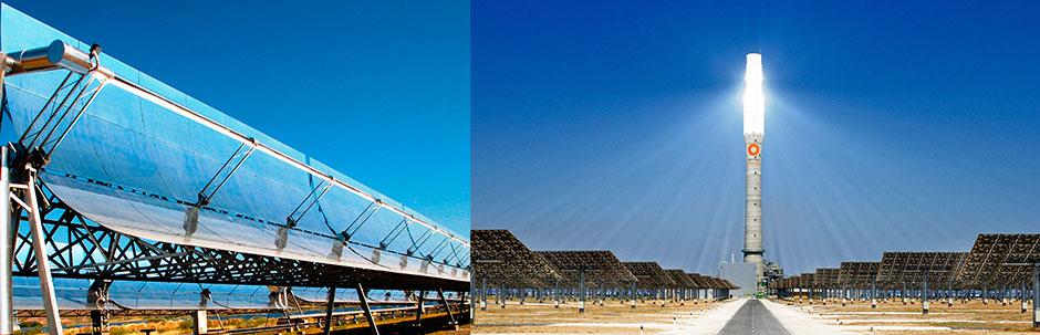 Energia Solar Heliotérmica - Concentradores Parabólicos e Torres de Concentração Solar - CSP