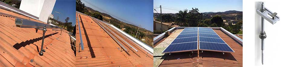 """Fixação de painéis fotovoltaicos usando """"Parafuso Prisioneiro"""""""