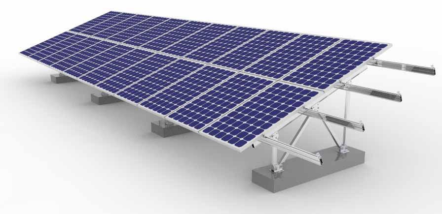 Estrutura de fixação de painel solar fotovoltaico para o solo