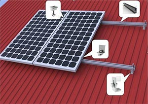 Estrutura de Suporte de Fixação do Painel Solar