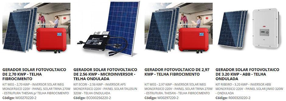 Geradores de Energia Solar Fotovoltaica