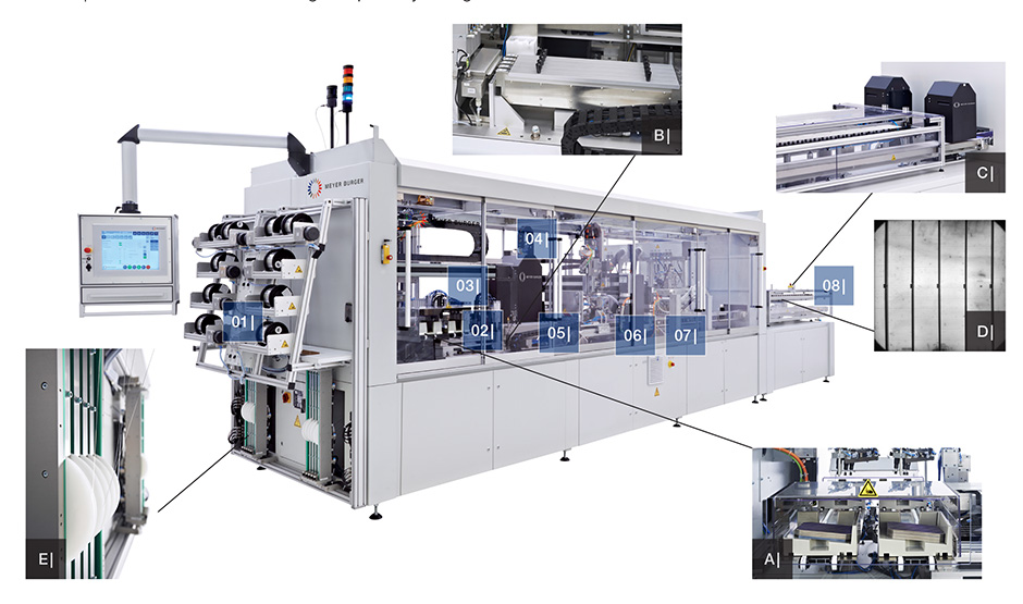 Stringer 2000 Interconexão de células fotovoltaicas