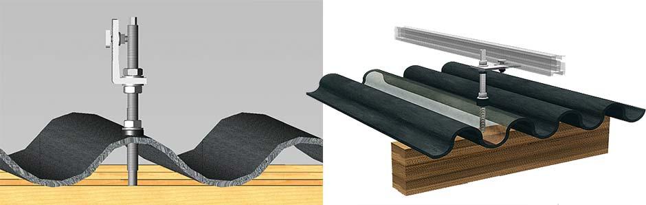 Estrutura de fixação de painel solar fotovoltaico para coberturas com telha de fibro-cimento (eternit)