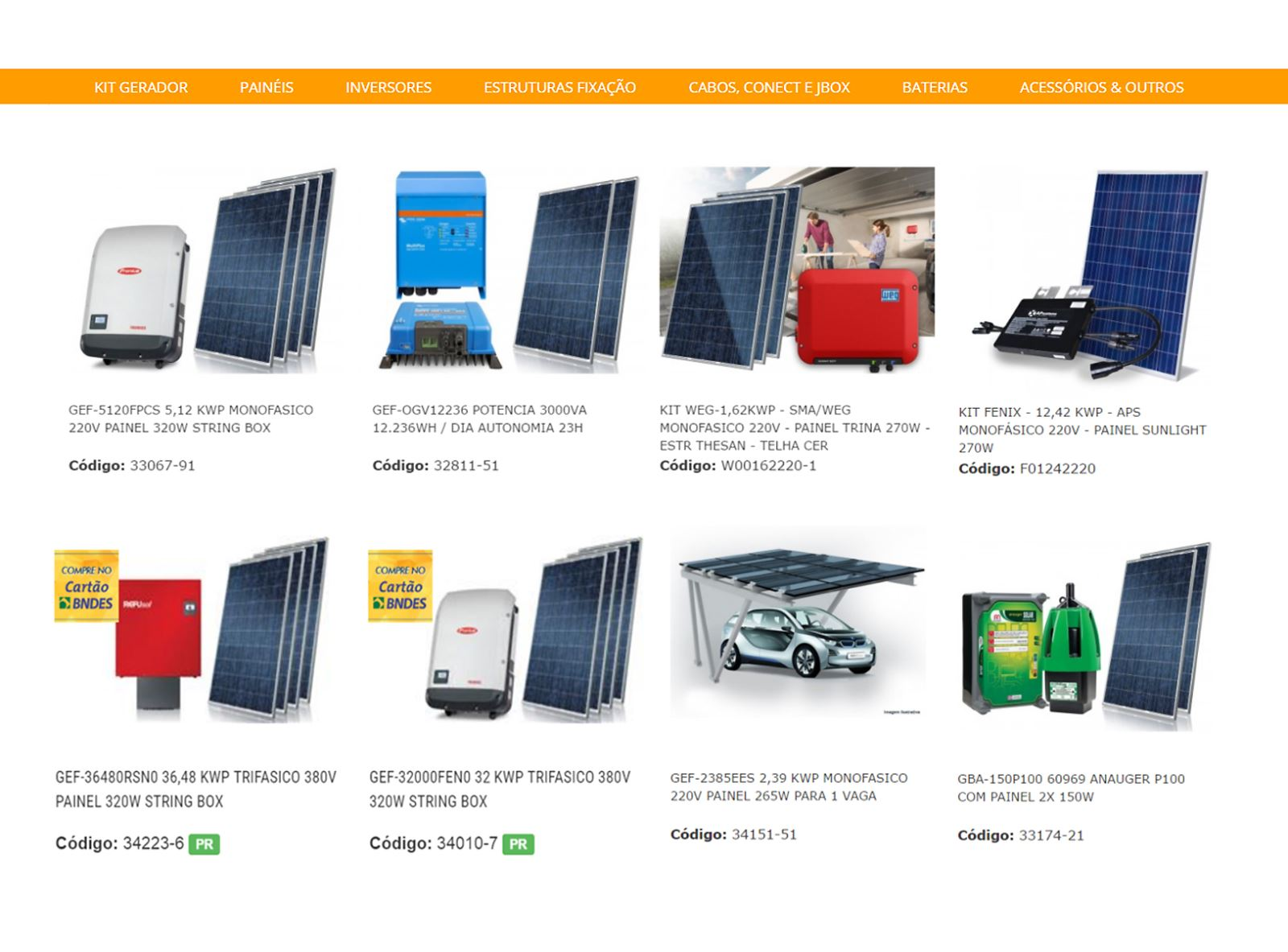 fornecedor equipamentos energia solar - Loja de Energia Solar