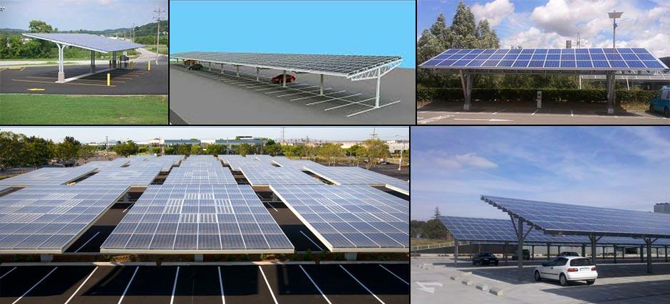 Estrutura de fixação de painel solar fotovoltaico - estacionament solar