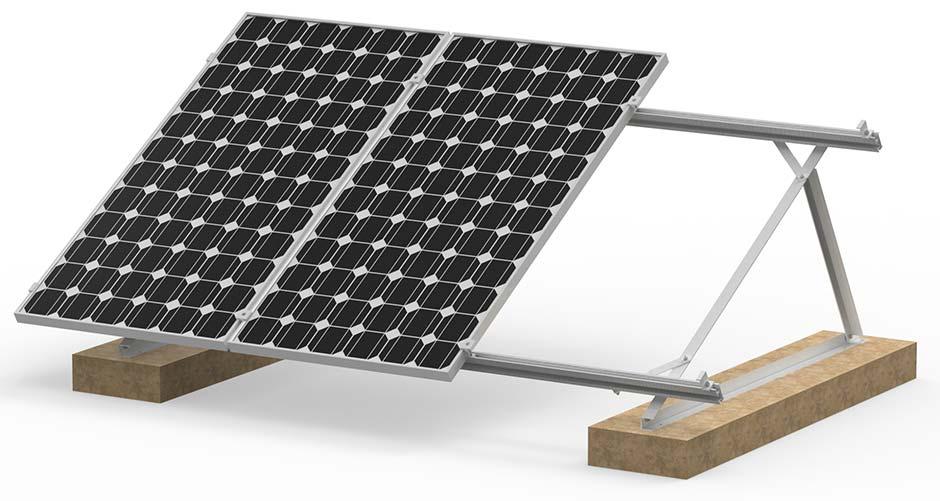 Estrutura de fixação de painel solar fotovoltaico para lajes de concreto