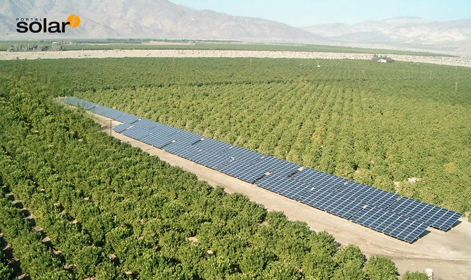Sistema de irrigação com energia solar fotovoltaica